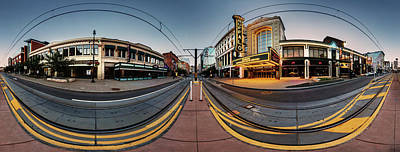 Photograph - Shea's On Main Street Buffalo - Panorama by Chris Bordeleau