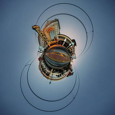 Photograph - Shea's On Main Street Buffalo - Tiny Planet by Chris Bordeleau
