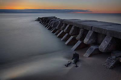 Photograph - Sheboygan Jetty 1 by CA  Johnson
