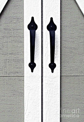 Photograph - Shed Door Handles by Ethna Gillespie