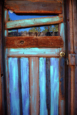 Photograph - Shed Door, New Mexico by Steve Gravano