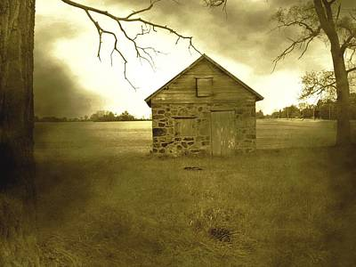 Photograph - Shed In Storm by Michael L Kimble