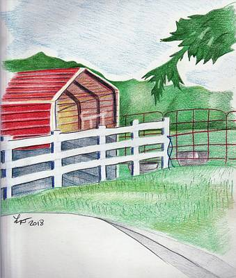 Drawing - Shed by Loretta Nash