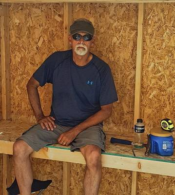 Photograph - Shed Work - Break Time by Greg Jackson