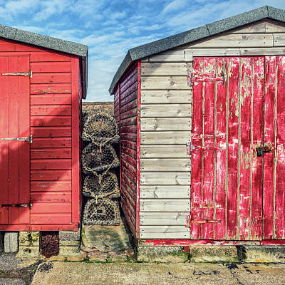 Photograph - Sheds And Fishing Baskets  by James Billings