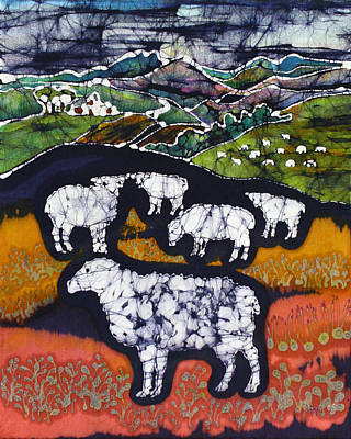 Sheep At Midnight Art Print by Carol  Law Conklin