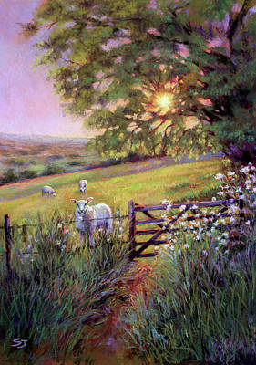 Painting - Sheep At Sunset by Susan Jenkins