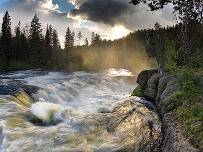 Lenticular Photograph - Sheep Falls Sunset by Leland D Howard