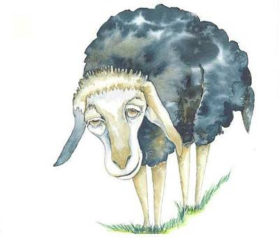 Painting - Sheep From Foxy Tales 2 by Donna Acheson-Juillet