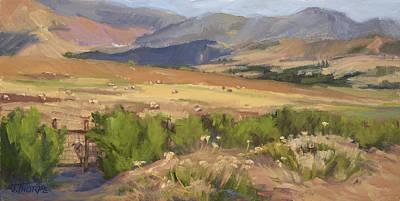 Painting - Sheep Gate by Jane Thorpe
