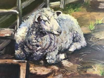 Painting - Sheep by Gloria Smith