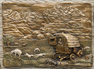 Sculpture - Sheep Herder's Wagon by Dawn Senior-Trask
