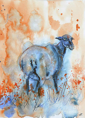 Painting - Sheep In A Poppy Field by Zaira Dzhaubaeva