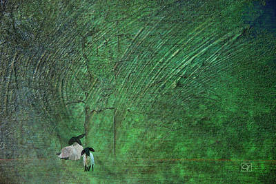 Digital Art - Sheep In Green Pastures by Jean Moore