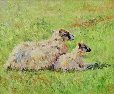 Sheep In The Spring Time,la Vie Est Belle Art Print