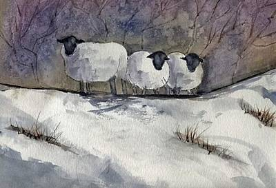 Painting - Sheep by John Brisson