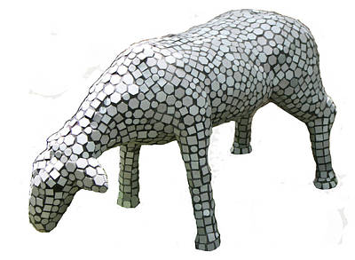 Sculpture - Sheep by Katia Weyher