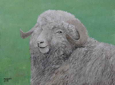 Painting - Sheep by Masami Iida
