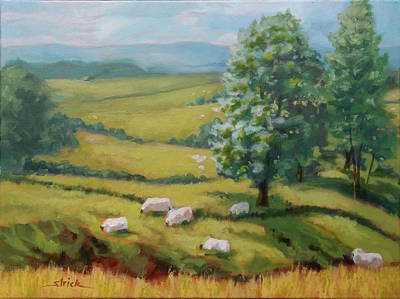 Painting - Sheep May Safely Graze by Carol Strickland