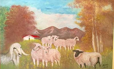 Painting - Sheep by Mimi Eskenazi