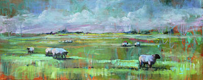 Painting - Sheep Of His Field by Susan Bradbury