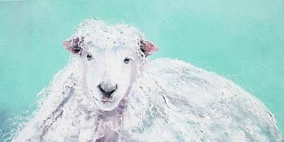 Sheep Painting - Jeremiah Art Print