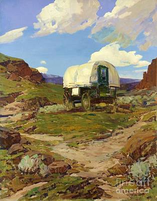 Painting - Sheep Wagon by Pg Reproductions