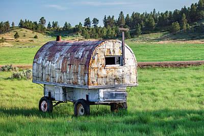 Wagon Photograph - Sheepherder's Wagon by Todd Klassy