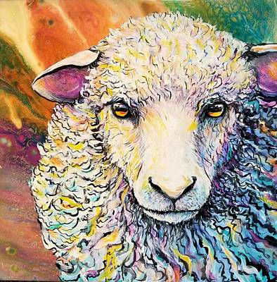 Painting - Sheepish by Gail Butler