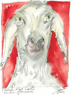 Sheeps Are Not Always Kind .... Art Print by Joerg Bernhard Klemmer