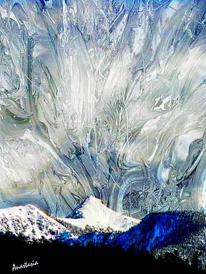 Painting - Sheep's Head Peak April Snow II by Anastasia Savage Ealy