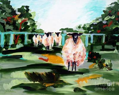 Croatia Painting - Sheeps by Lidija Ivanek - SiLa