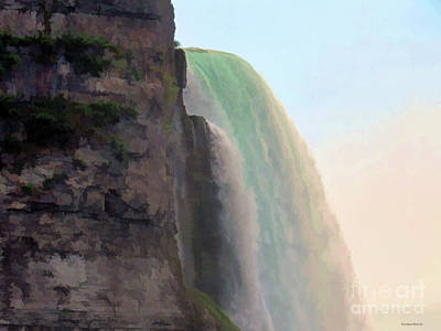 Photograph - Sheer Drop At Niagara by Roberta Byram