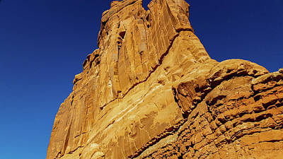 Photograph - Sheer Rock Face, Arches National Park by Marilyn Burton