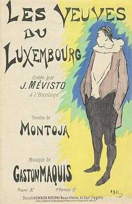 Luxembourg Painting - Sheet Music Les Veuves Du Luxembourg by MotionAge Designs