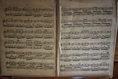 Treble Photograph - Sheet Music by Martin Newman