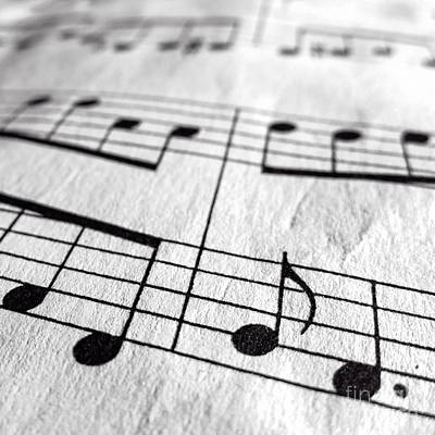 Musicians Photo Royalty Free Images - Sheet Music Square Royalty-Free Image by Edward Fielding