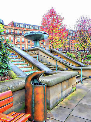 Photograph - Sheffield Peace Gardens Fountain View by Dorothy Berry-Lound