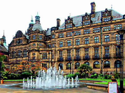 Photograph - Sheffield Town Hall 1 by Dorothy Berry-Lound