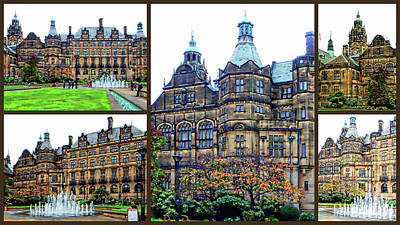 Photograph - Sheffield Town Hall Collage by Dorothy Berry-Lound