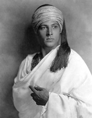 1920s Movies Photograph - Sheik, Rudolph Valentino, 1921, Portrait by Everett