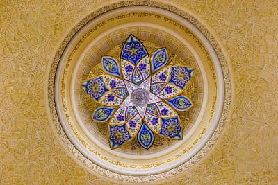 Photograph - Sheikh Zayed Mosque Chandelier by Yogendra Joshi