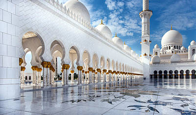 Photograph - Sheikh Zayed Mosque by Jorg Peter