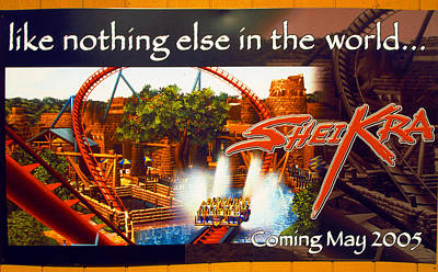 Photograph - Sheikra Poster Add One by David Lee Thompson