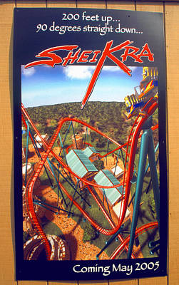 Photograph - Sheikra Ride Poster 2 by David Lee Thompson