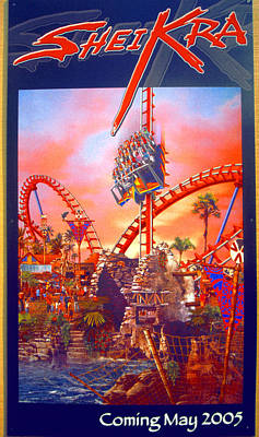 Photograph - Sheikra Ride Poster 3 by David Lee Thompson