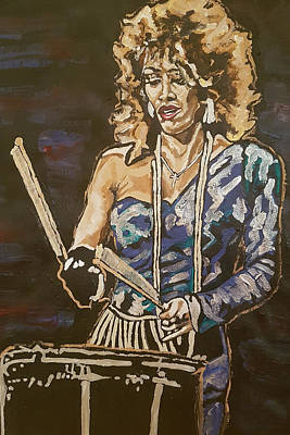 Painting - Sheila E by Rachel Natalie Rawlins