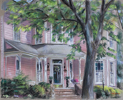 Horizontal Pastel - Sheila's Pink House by Christopher Reid