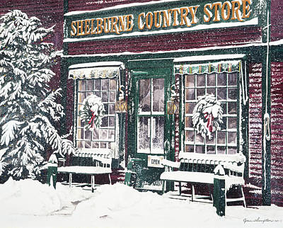 Painting - Shelburne Country Store by Jean Sumption