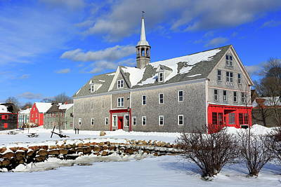Photograph - Shelburne, Nova Scotia In Winter by Gary Corbett